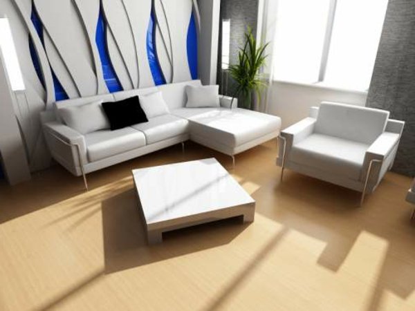 wohnzimmer einrichten - mit einer extravaganten wandgestaltung