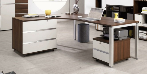 Moderne büromöbel weiss  Eckschreibtisch - 110 moderne Vorschläge! - Archzine.net