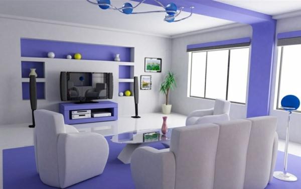 wohnzimmer einrichten - weiße möbel