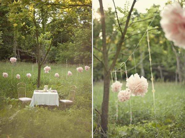 rosa Vintage Hochzeit Inspiration
