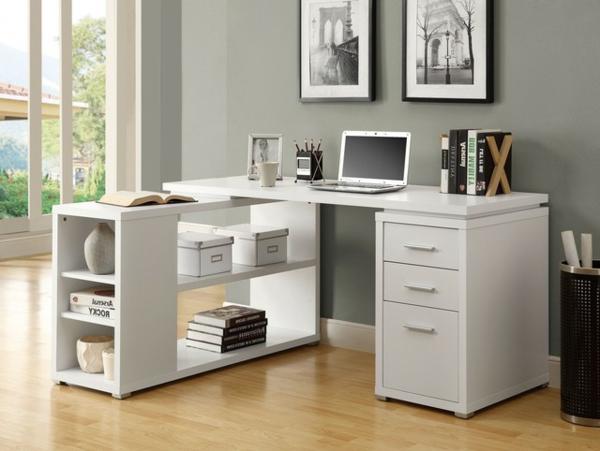 Schreibtisch-Holz-moderne-Schreibtische-in-Weiß