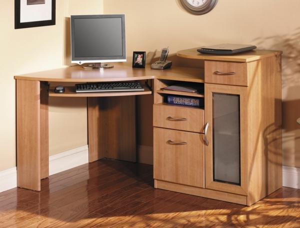 Schreibtisch-Holz-moderne-Schreibtische-mit-Schubladen
