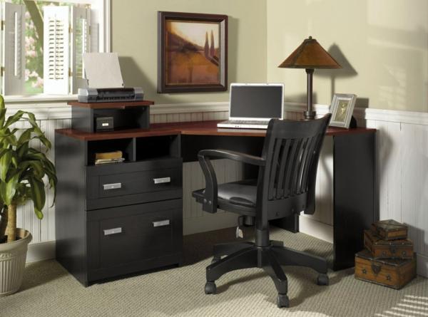 Schreibtisch-Schwarz-moderne-Schreibtische-Holz