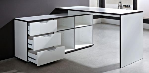 Schreibtisch-Weiss-mit-Schubladen