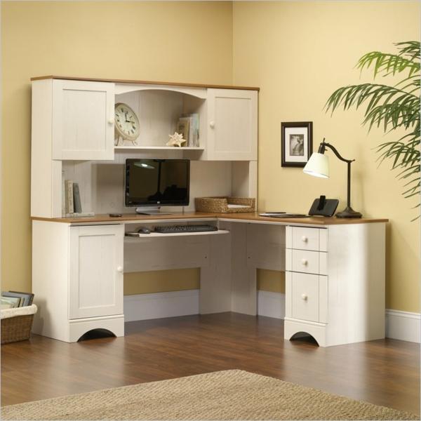 Schreibtisch-Weiss-mit-schönem-Design