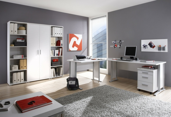 Schreibtisch-Weiss-moderne-Schreibtische-Büro-Schreibtische