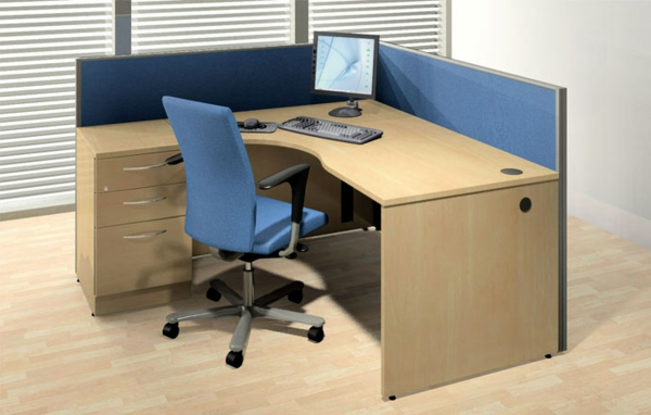 Schreibtisch-Weiss- Büro-Schreibtisch