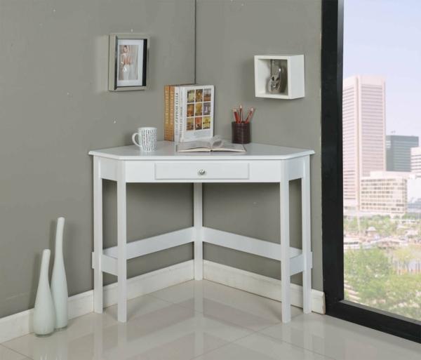 Schreibtisch-für-die-Ecke-in-Weiß-
