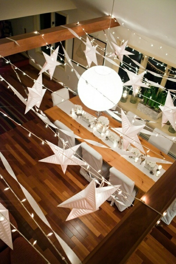 Silvester-Dekoration-Ideen-hängende-Sternen