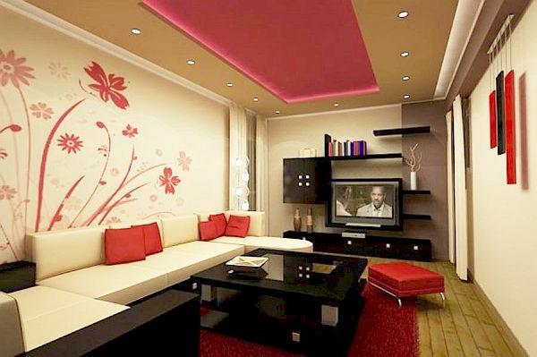 wohnzimmer einrichten - großes weißes sofa