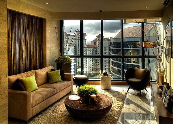 wohnzimmer einrichten - moderne wandgestaltung