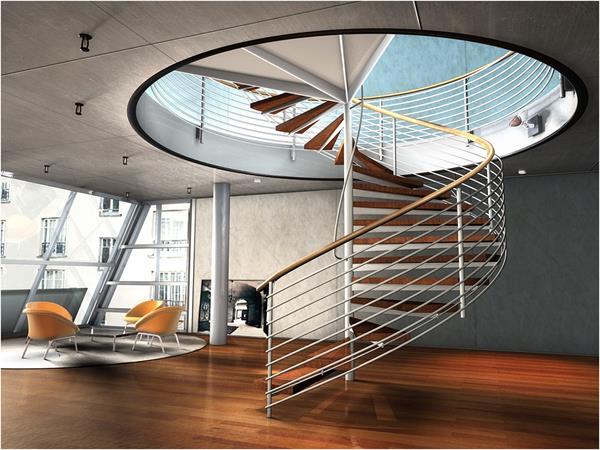 -Spindeltreppe-im-Hause-haben-modernes-Design