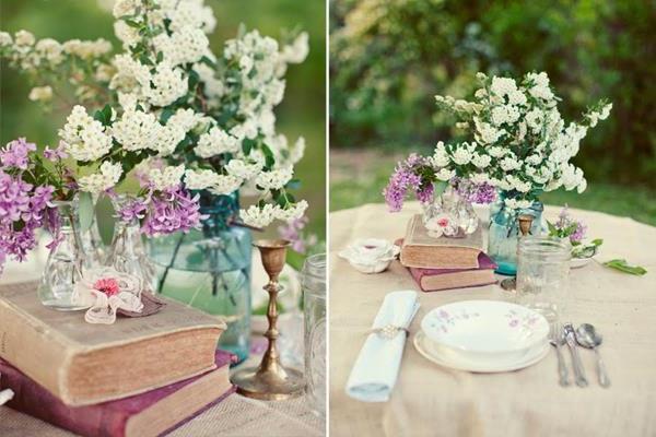 --Vintage-Hochzeit-fantastische-Blumendeko-für-Tisch-