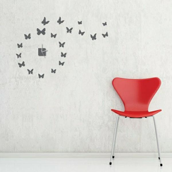 Wanddeko-Kreative-Wandgestaltung-mit-coolem-Wanduhr