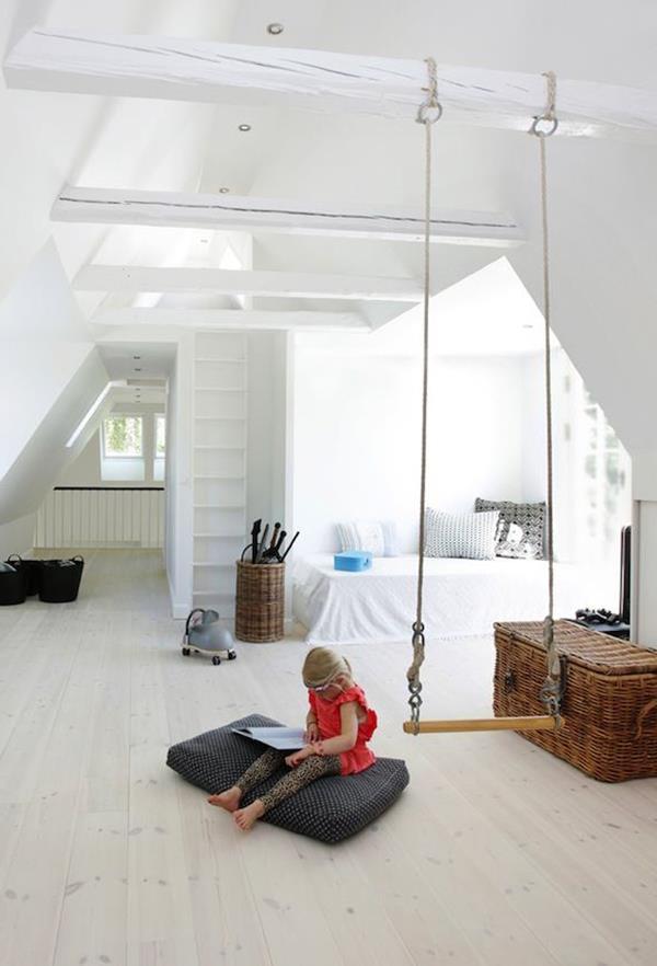 Wandfarbe-Kinderzimmer-Interior-Design-Idee-weiße-Wandfarbe