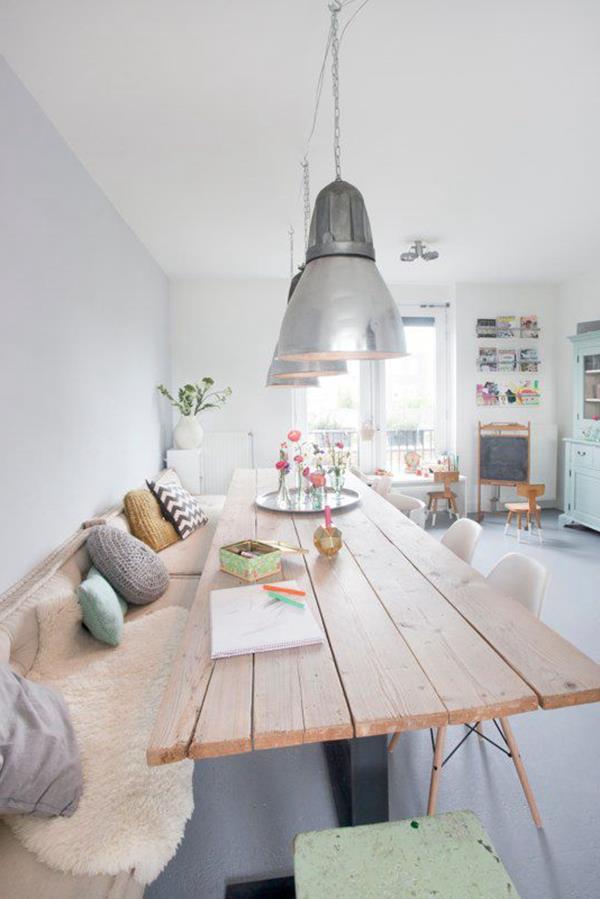 Wandfarbe-Weiß-für-ein-schönes-Interior-im-Hause-Kücheneinrichtung Wandfarbe Weiß