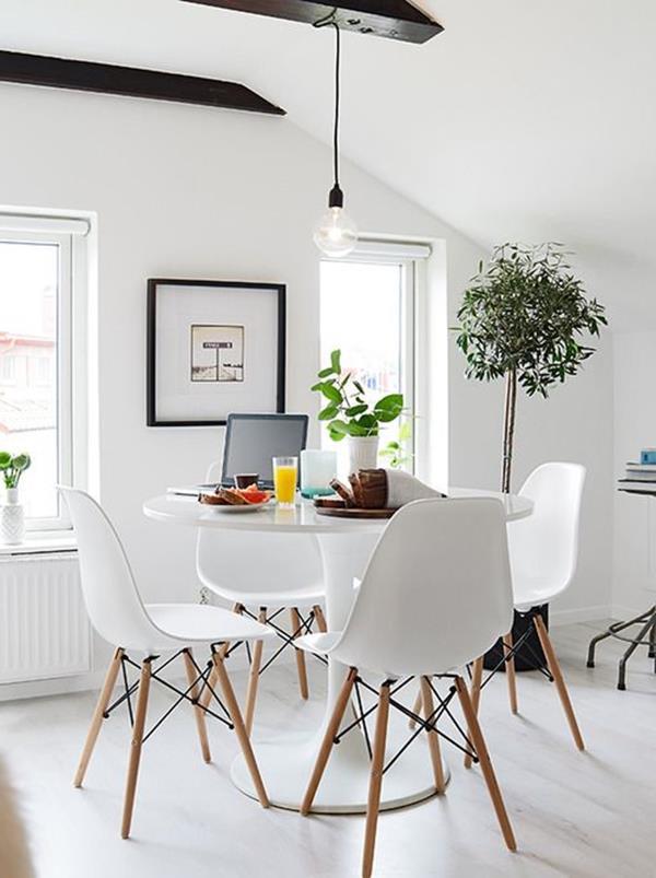 Wandfarbe-Weiß-für-ein-schönes-Interior-im-Hause-Küchengestaltung- Wandfarbe Weiß