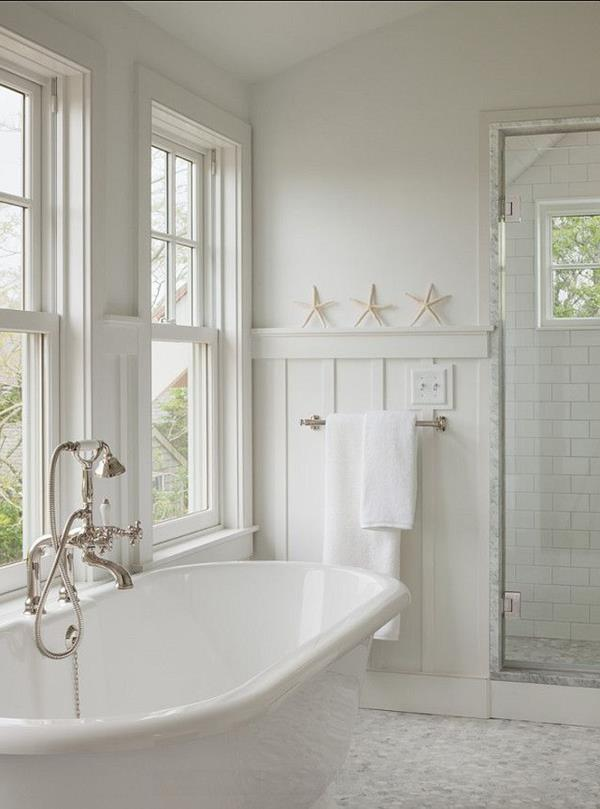 Wandgestaltung-Badezimmer-weiße-Farbe