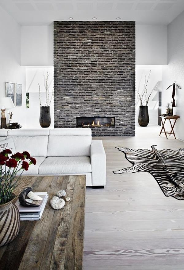 wandgestaltung wohnzimmer rot ideen : Wohnzimmer Wandgestaltung Stein ...
