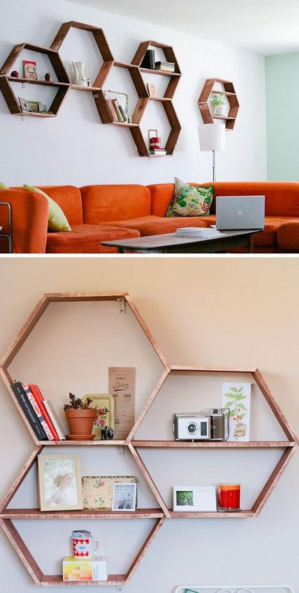Wandgestaltung-Wohnzimmer-schöne-Interior-Design-Ideen-interessante-Regale