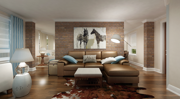 Wandgestaltung-fürs-Wohnzimmer-cooles-Design-im-Wohnzimmer
