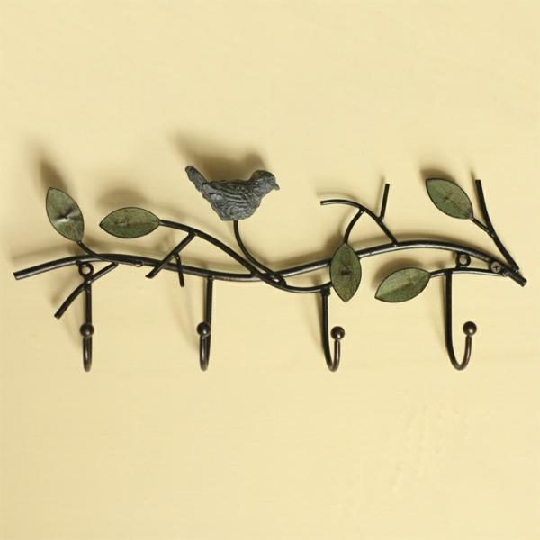 Wandhaken-aus-Metall-wie-einen-Zweig