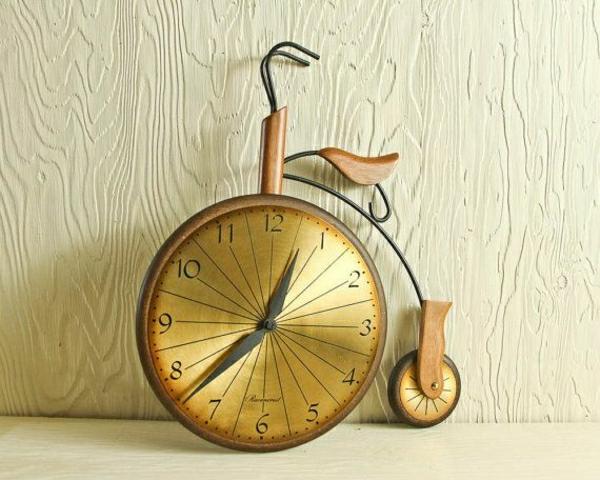 Wanduhr-Design-fantastische-kreative-Wanddeko-Fahrrad