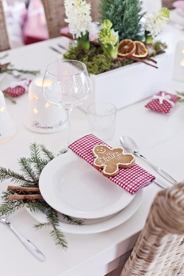 Tischdeko zu Weihnachten Weihnachtsdeko-effektvolle-Ideen-Deko-zum-Selbermachen