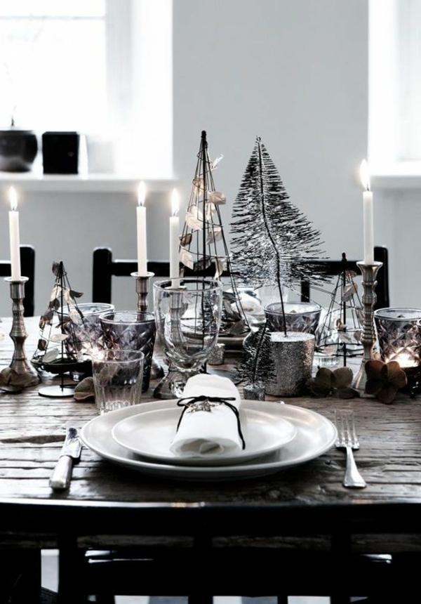 Weihnachtsdeko-für-Tisch-wunderschöne-stilvolle--Ideen-