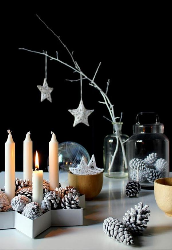 -Weihnachtsdeko-für-Tisch-wunderschöne-stilvolle-Ideen-