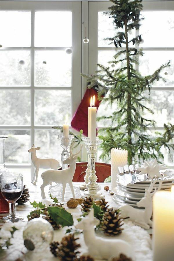 Weihnachtsdeko-für-Tisch-wunderschöne--stilvolle-Ideen