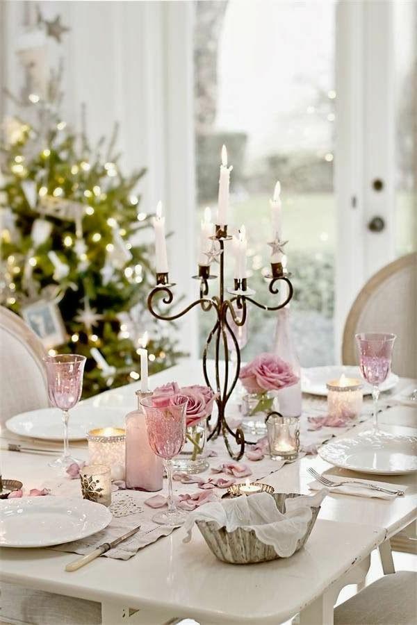 Weihnachtsdeko-für-Tisch---wunderschöne-stilvolle-Ideen