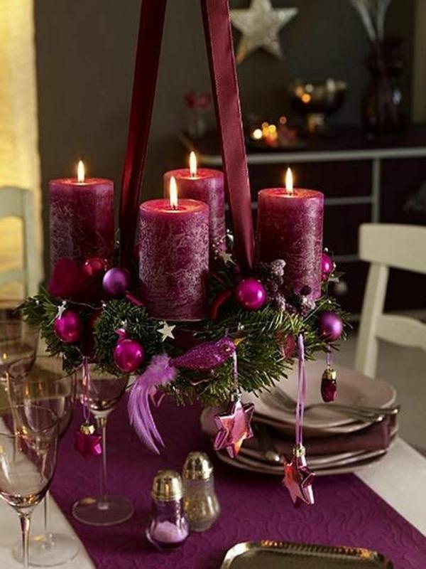 -Weihnachtsdeko-für-Tisch-wunderschöne-stilvolle--Ideen