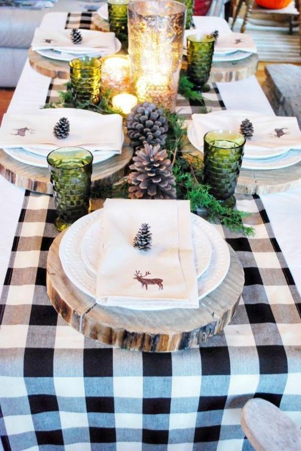 --Weihnachtsdeko-für-Tisch-wunderschöne-stilvolle-Ideen