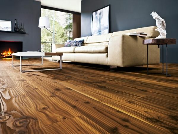 Wohnideen-für-Zuhause-Interior-mit-Holzboden-im-Wohnzimmer
