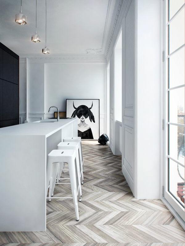 Wohnideen-für-Zuhause--Interior-mit-Holzboden