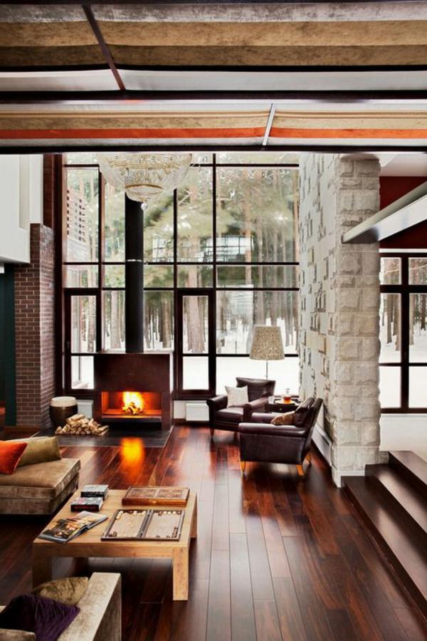 Wohnideen-für-Zuhause-Interior-mit-Holzboden