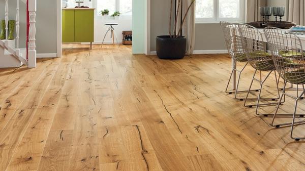 Wohnideen-für-das-Interior-Design-Boden-Holz--Eiche