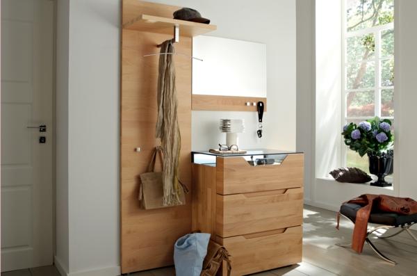 Wohnideen-für-das-Interior-Design-Flurmöbel-aus-Holz-