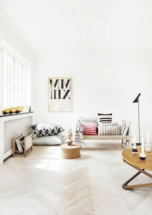 Wohnzimmer-Gestaltung-Wohnideen-für-das-Interior-Design-Boden-Holz