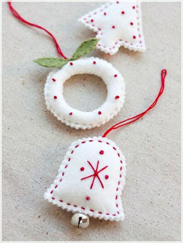 weiße weihnachtsdeko - dekoartikel für den weihnachtsbaum