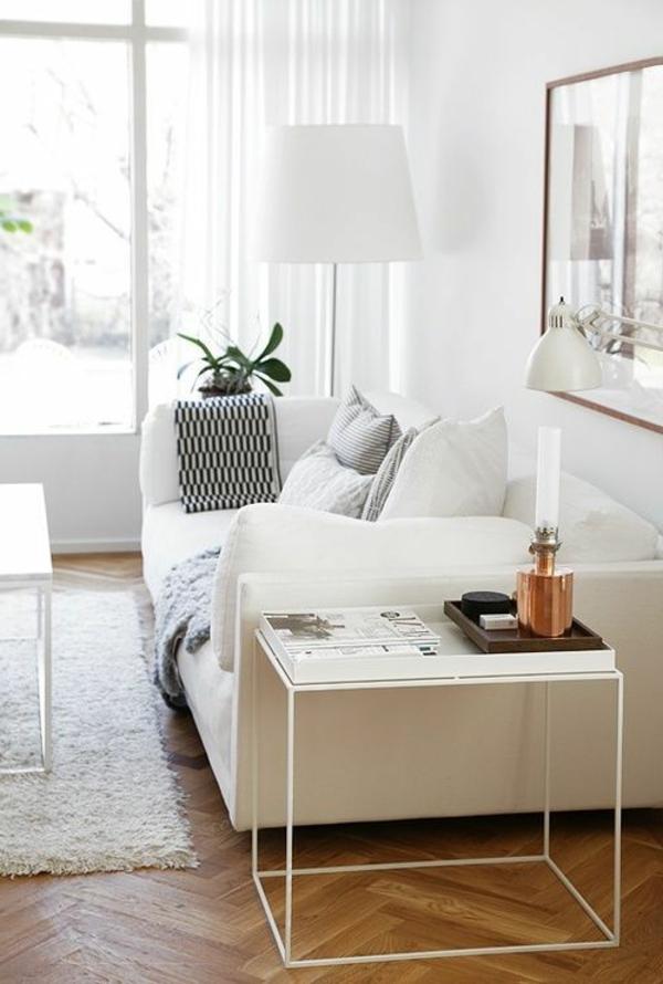 wohnzimmer einrichten - weiße gestaltung
