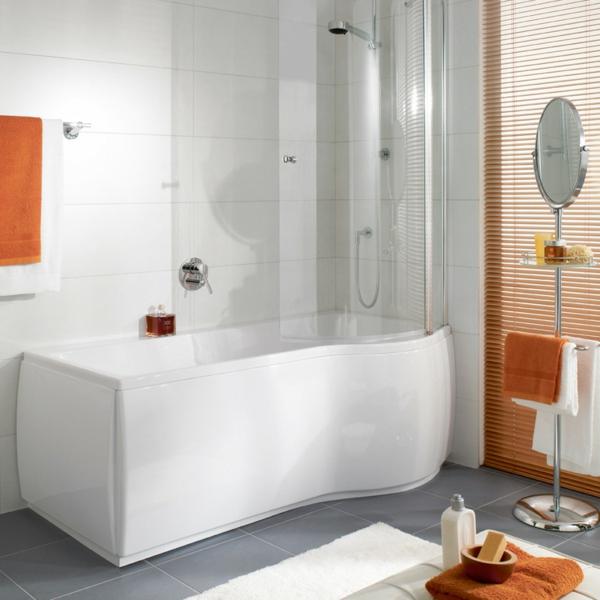 85 attraktive designs von badewannen mit sch rze. Black Bedroom Furniture Sets. Home Design Ideas