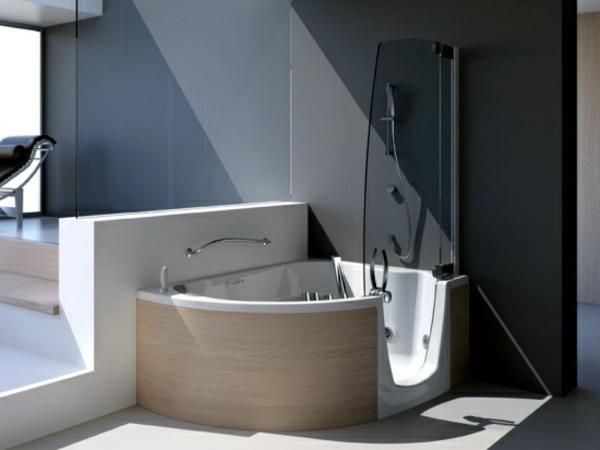 Badewannen mit duschzone 24 super vorschl ge for Badezimmer mit eckwanne