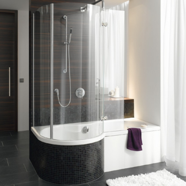 badewanne mit duschzone komplett. Black Bedroom Furniture Sets. Home Design Ideas