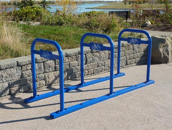 blaue-Fahrrad-Ständer-mit-tollem-Design
