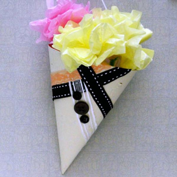 bastelideen für kindergarten - blumen aus buntem papier
