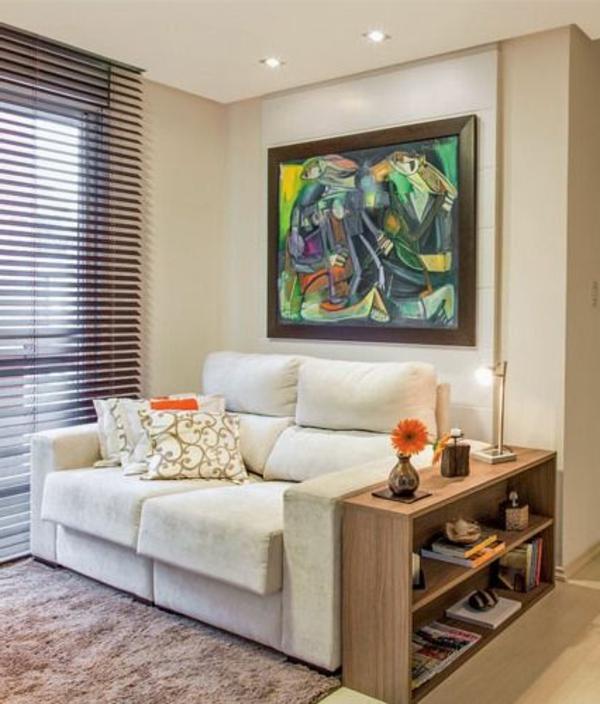 wohnzimmer einrichten - modernes bild neben coolen jalousien