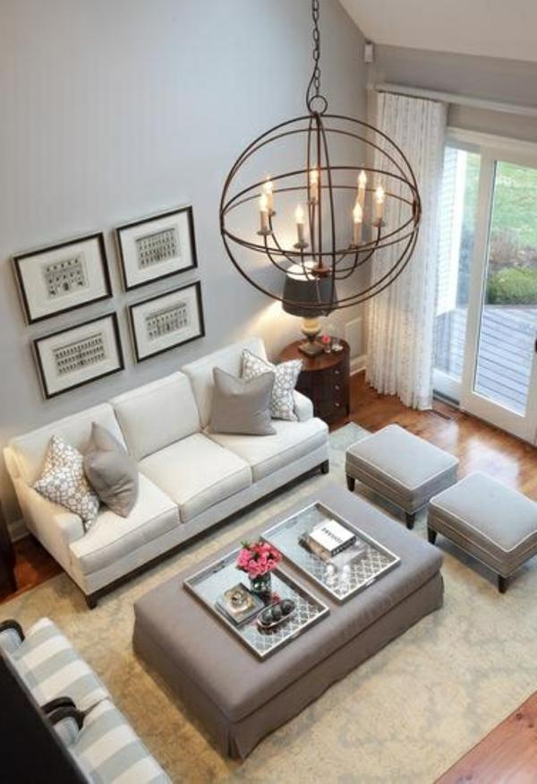 wohnzimmer einrichten - weiße gardinen