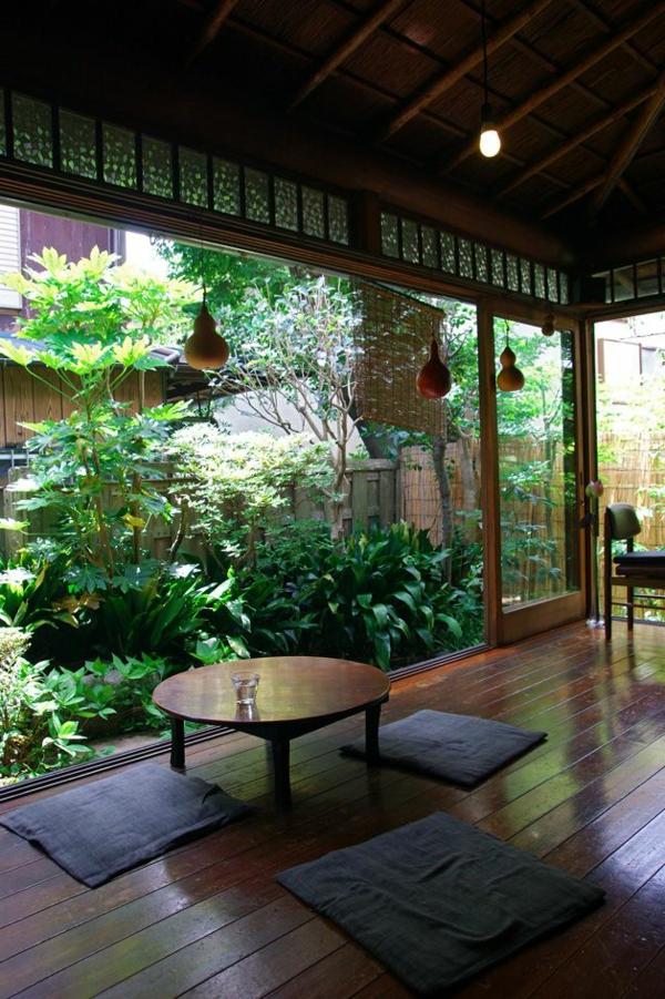 wohnzimmer einrichten - pflanzen umgebung